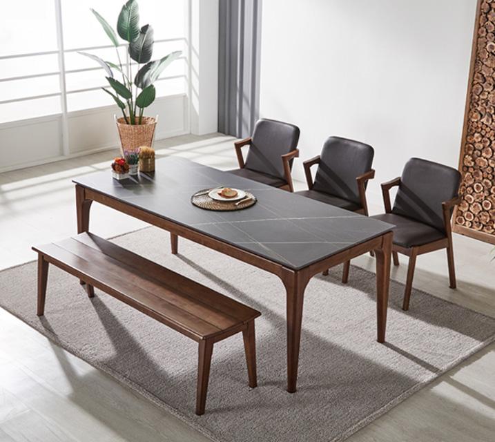 샤비 세라믹 4인 식탁세트 + 의자포함 (의자형/의자4ea) / 월 51,800원